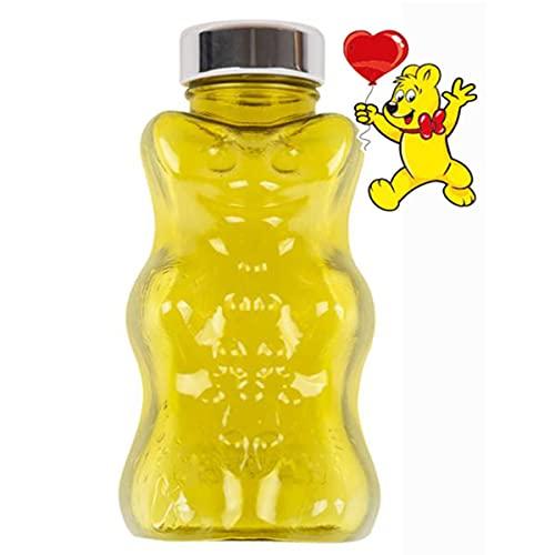 ハリボー (Haribo) 水筒 ゴールドベア かわいい 子供用 プラスチックボトル 子ども用コップ タンブラー ウォーターボトル, イエロー (Yellow) 韓国製 [正規品]