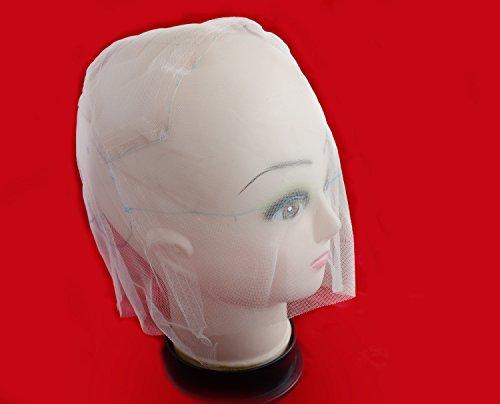 Full Lace Wig Cap Wig Base de perruque pour ventiler ou nouer Fond de teint Perruque Perruque Faire de perruque (Beige)