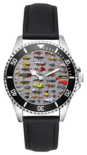Geschenk für Angel Angelköder Angler Uhr L-6103
