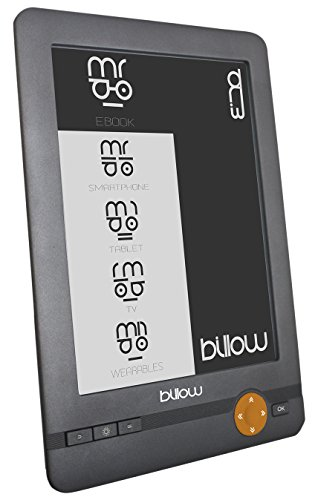 Billow E03E Lettore e-book - E-reader (E Ink, 800 x 600 Pixel, DjVu, EPUB DRM, FB2, MOBI, PDF, RTF, TXT, BMP, GIF, JPG, non compatibile, MicroSD (TransFlash))