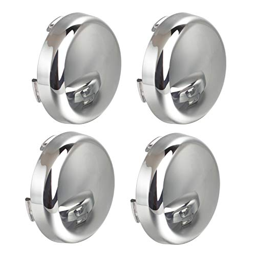 NTHREEAUTO Chrome Bullet LED Turn Signals Lens Cover Compatible with Harley Sportster Street Glide Road King Softail - Mirror Shell