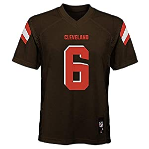 OuterStuff Baker Mayfield Cleveland Browns NFL Youth 8-20 Brown Home Mid-Tier Jersey (Youth Medium 10-12)