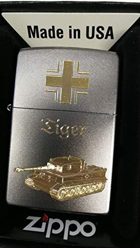 Zippo Panzerkampfwagen Tiger-Diamandgravur, Silber, smal