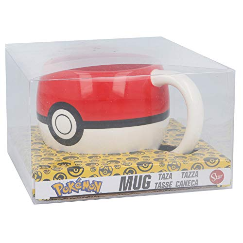 Stor Pokemon Pokeball 8412497446759 Tasse, Keramik, 3D-Geschenkbox, transparent