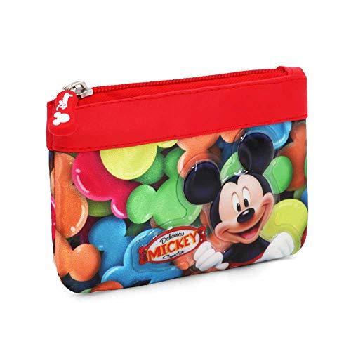 Karactermania Mickey Mouse Delicious Monederos, 14 cm, Rojo