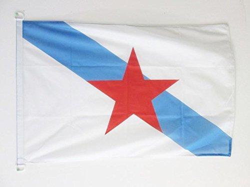 AZ FLAG Bandera Nautica de Galicia ESTRELEIRA 45x30cm - Pabellón de conveniencia INDEPENDENTISTA GALLEGA - NACIONALISMO Gallego 30 x 45 cm Anillos