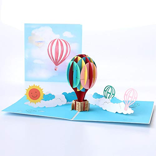 Happy Will 3D Funny Happy Birthday Card Pop Up Birthday Greeting Card Anniversary Card Gifts for Wife Mom Girls(Color Balloon)