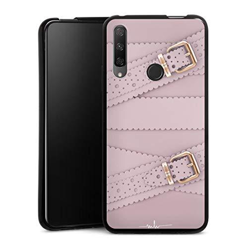 DeinDesign Silikon Hülle kompatibel mit Huawei Honor 9X Hülle schwarz Handyhülle Marina Hoermanseder Mode Leder
