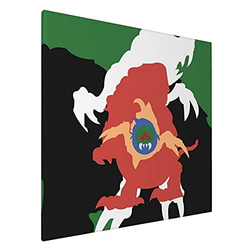 Lsjuee Best Choice - Lienzo decorativo para pared (50,8 x 50,8 cm), diseño de cuadros abstractos metroideos, para decoración del hogar, oficina, póster enmarcado
