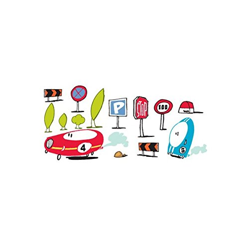 Stickers muraux : Signalisations Route
