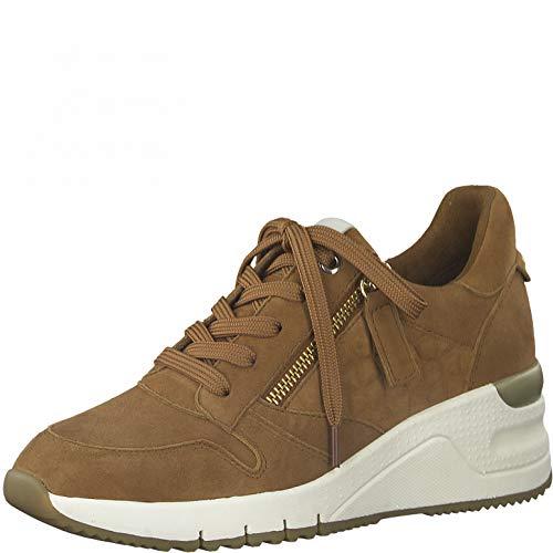 Tamaris DAMES Sneakers, Vrouwen Laag,verwisselbaar voetbed,casual schoen,wedge heels,lage schoen,veterschoen,straatschoen,MUSCAT,39 EU / 5.5 UK