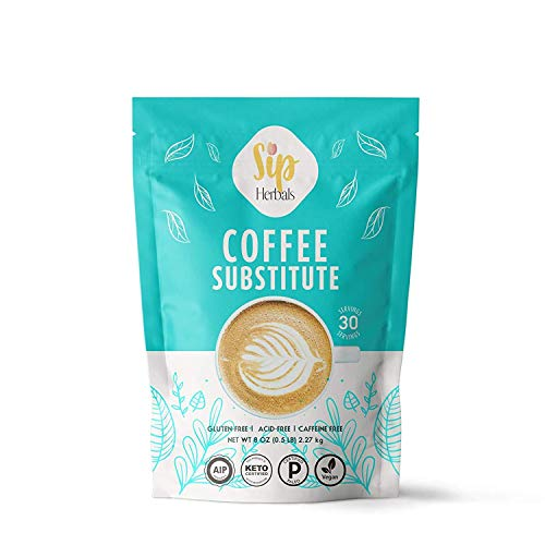 Sip Herbals Coffee Substitute - Chicory Root, Dandelion and Carob Blend - Organic Caffeine Free Tea and Coffee Herbal Alternative - A Dandy Solution for Healthier Living