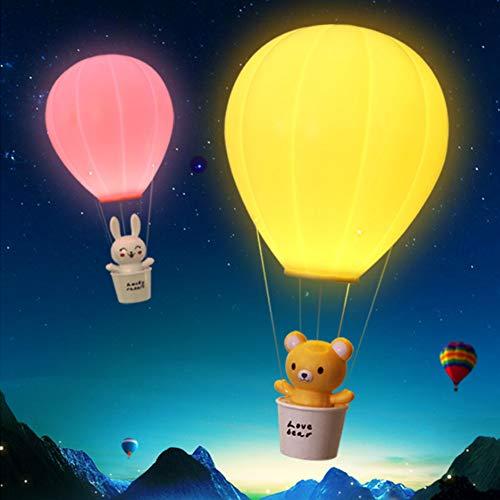 Veilleuses LED, dimmable air Chaud Ballon Nuit LMap avec Interrupteur Tactile USB Rechargeable pour Les Enfants Chambre à Coucher,Yellow