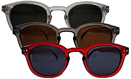 Spalding&bros Occhiali Da Sole A.G Uomo Donna Men Woman Sunglasses Denver Lenti Polarizzate Montatura Liscia Polarized Lenses (Marrone)