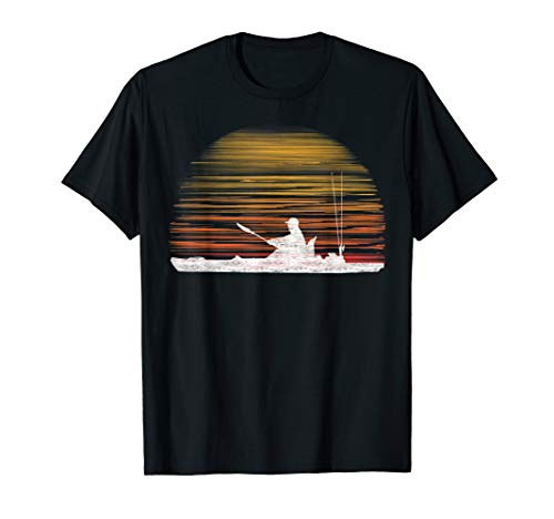 Kayak Sunset Angler Fisherman Shirt