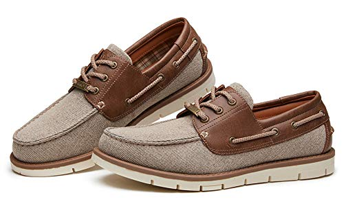 Kkyc Premium Mens Shoes Classic Casual Shoes Comfortable Loafers Slip on Boat Shoes 11 M (Beige)