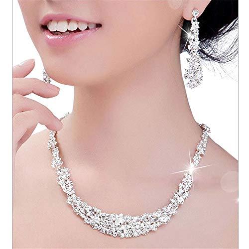 ❤️Byedog❤Crystal Bridal Jewelry Sets Hotsale Necklace+Earrings Jewelry Wedding