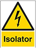 "Vsafety signos 68022bc-s""aislador"" ADVERTENCIA Señal"