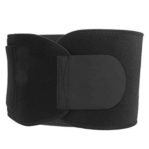 Bnineteenteam Cinturón de Soporte de Cintura, SBR Cinturón de Soporte de Cintura de Neopreno Cinturón elástico Ajustable de la Aptitud del Ejercicio(Negro)