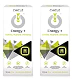 WUG Energy+ Chicle Ideal para Deportes Extremos, Cafeína, Guaraná, Ginseng, Sabor Menta, Pack 2 cajas (2 x 10 uds)