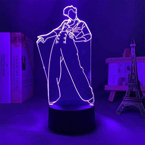 Harry Styles B 3D luz nocturna, lámpara de ilusiones con control remoto, 16 colores cambiantes USB LED lámpara de mesa decoración para niños Navidad Halloween cumpleaños