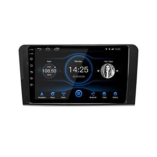 EZoneTronics 9 pollici 2 DIN Android 10.1 Autoradio Stereo adatto per Mercedes Benz ML GL W164 Touch Screen Navigazione GPS ad con BT USB WIFI AM/FM/RDS SWC Mirror Link Player 2G RAM + 16G ROM
