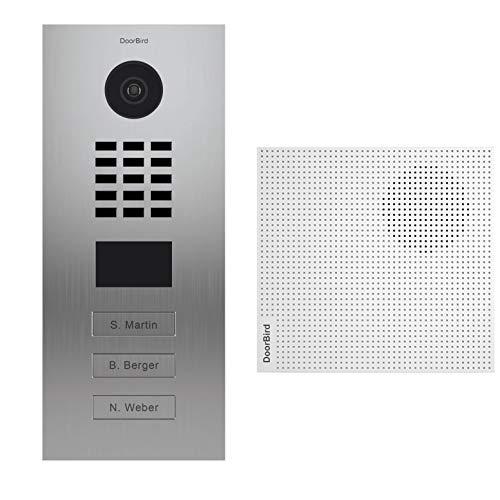 Doorbird Kit D2103V + A1061W - Portero de vídeo IP con 3 timbres y Timbre