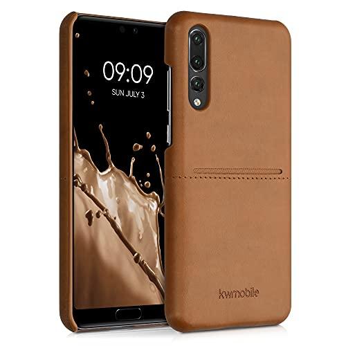 kwmobile Funda con Tarjetero Compatible con Huawei P20 Pro - Carcasa para móvil de Cuero sintético con Ranuras para 2X Tarjeta