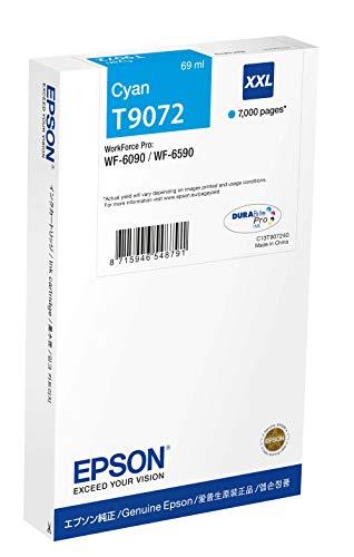 Epson C13T907240 Tintenpatrone, WF-6xxx, XXL, cyan