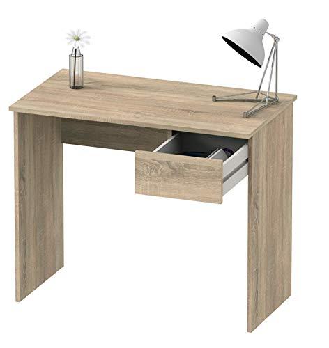 Abitti Escritorio Mesa de Ordenador Multimedia Color Cambrian con cajón para Oficina, despacho o Estudio. 90cm Ancho x 75cm Altura x 50cm Fondo