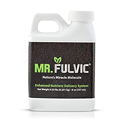 Organic Fulvic Acid Plant Amendment, 8 oz Natural Humic Soil and Hydroponic Nutrient Enhancer - Lawn and Garden Growth, Plant Health