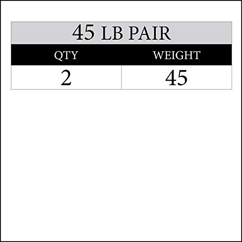 Papababe 2 inch Olympic Bumper Weight Plates