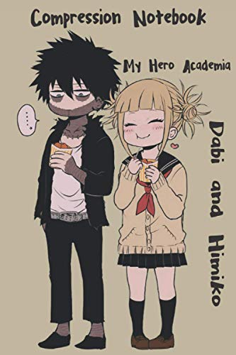 Compression Notebook My Hero Academia Dabi and Himiko: Anime Notebook / College Ruled 6
