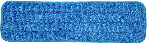 Almohadillas de microfibra para fregona de 18 pulgadas para mopas húmedas y secas, reutilizables, compatibles con el sistema de cuidado del suelo de Bona (paquete de 6)