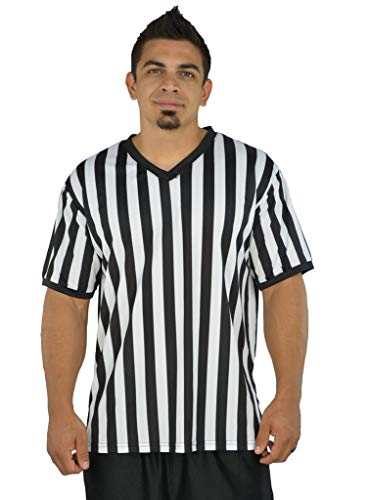 Mens Referee Shirts   V-Neck Style   Perfect Ref Shirt for Officials,...