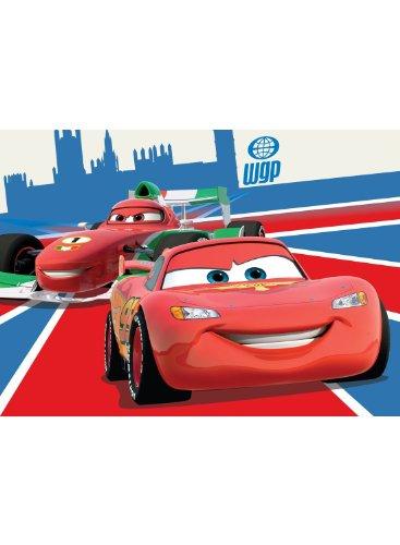 Disney cars lightning mcQueen y fRANCESCO bERNOULLI alfombrilla para niños Alfombrilla alfombrilla de juego para habitación de niño no se espera sin 95 x 133 cm