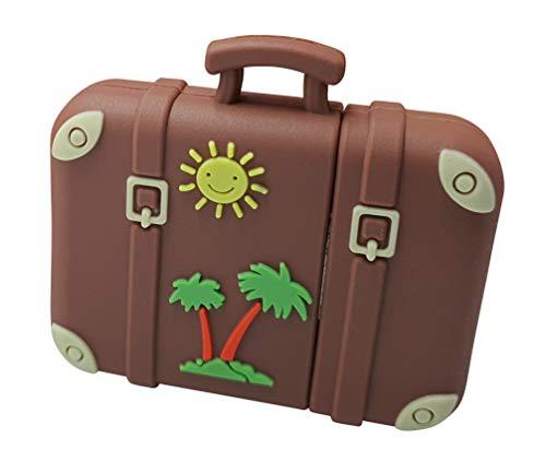 Maleta Retro Vintage Sol y Palmera Viajar 16 GB - Travel Suitcase...