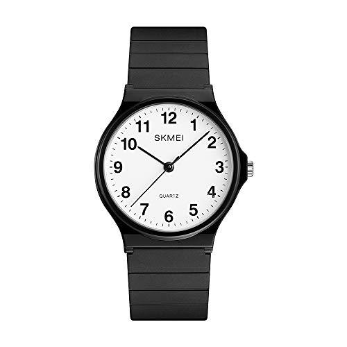 SKMEI Women Waterproof Watch, Wrist Watch for Lady Girls Dress Casual Analog Quartz Watches for Women (Black Digital)