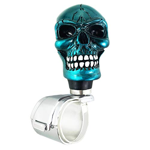 Abfer Spinner Knob for Steering Wheel Suicide Knobs Skull Dark Green Wheel Handle Knob Steering Spinner Grip Ball