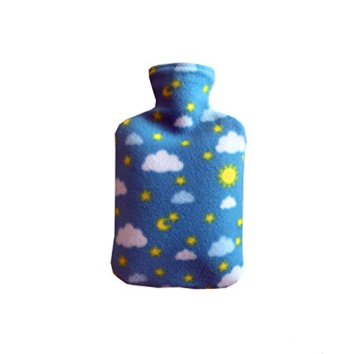 Funda de tela de forro polar para botellas de agua caliente de 2000 ml, a prueba de explosiones, bolsa de agua caliente extraíble (color: B)