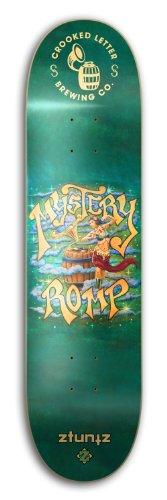 ztuntz skateboards Crooked Letter Brewing Mystery Romp Park Skateboard Deck, Orange/Green/Blue, 7.50 x 31-Inch/14-Inch WB