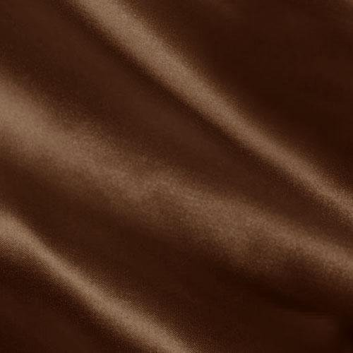 Shannon Fabrics Silky Satin Charmeuse Solid Fabric, Chocolate, Fabric by the yard