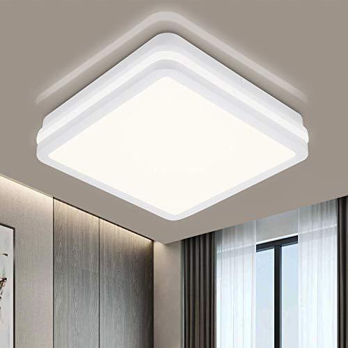 2 x LED Deckenleuchte für Wohnzimmer, 24W 2400LM 4000K Neutralweiß LED Deckenlampe, Spritzwassergeschützt IP54 Badleuchte für Badezimmer, Büro, Schlafzimmer, Esszimmer, Küche, Balkon