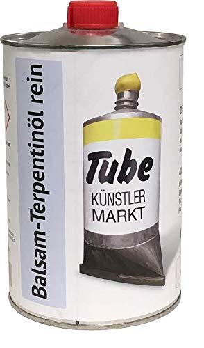 Artservice-Tube Balsam Terpentin-Öl, Verdünnungsmittel für Ölfarben, Malmittel und Firnisse, geeignet für Reinigung, 1000ml