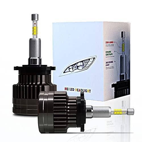 SageSunny D2H Ampoules LED Phare D1S D2S D3S CANBUS 5500K Blanc Feux de Croisement/Feux de Route CSP 70W 10000LM Emitting 360° Remplacent des Auto Lamp xénon - Une Garantie de 18 Mois