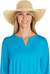 24a7440f89e Coolibar UPF 50+ Women s Packable Wide Brim Hat – Sun Protective (One Size-  Natural)