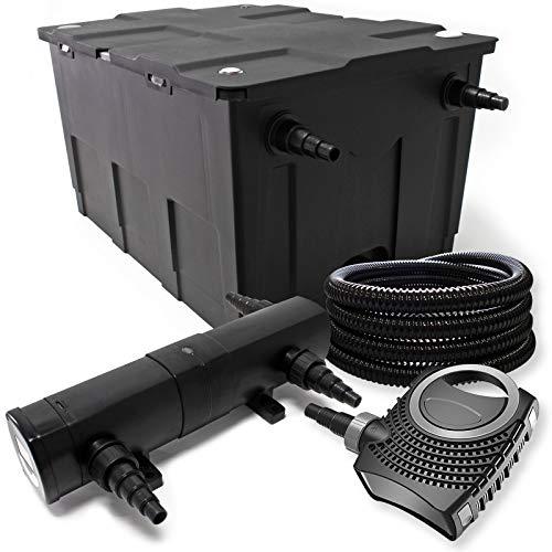 Filterset van bio-vijverfilter 12000l UVC vijverzuiveraar met 72W80W pomp slang en fonteinpomp