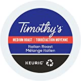 Timothy's, Italian Roast, Single-Serve Keurig K-Cup Pods, Medium Roast Coffee, 48 Count (2 Boxes of 24 Pods)