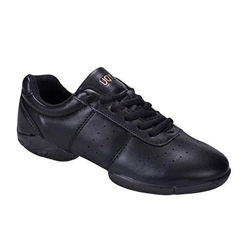Yudesun Aire Libre Deportes Danza Zapatos Mujer - Mujeres Cuero Split Suela Cordones Zapatos Baile Calzado Teaching Jazz Moderno Running Yoga Fitness Gimnasia (Los Zapatos Son más pequeños)