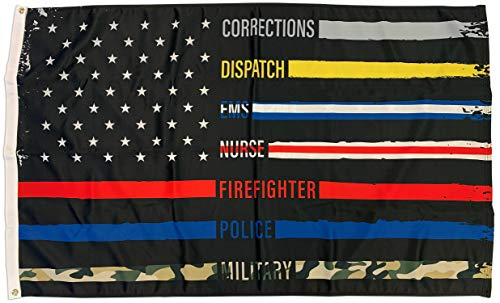 FlagSource First Responder Polyester Patriotic Flag, Dual Sided, 2x3'